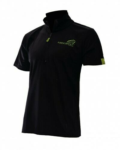 Arbortec Zipper Polo short sleeve black